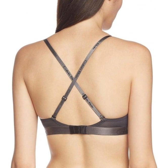 4d69b99b395d67 Calvin Klein Women Dual Tone Convertible Triangle Bra Black Grey Shadow