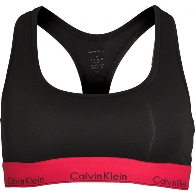 Calvin Klein Women Modern Cotton Bralette, Black With Empower
