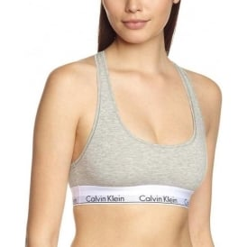 Modern Cotton Bralette, Grey