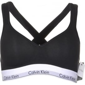 Modern Cotton Bralette Lift, Black