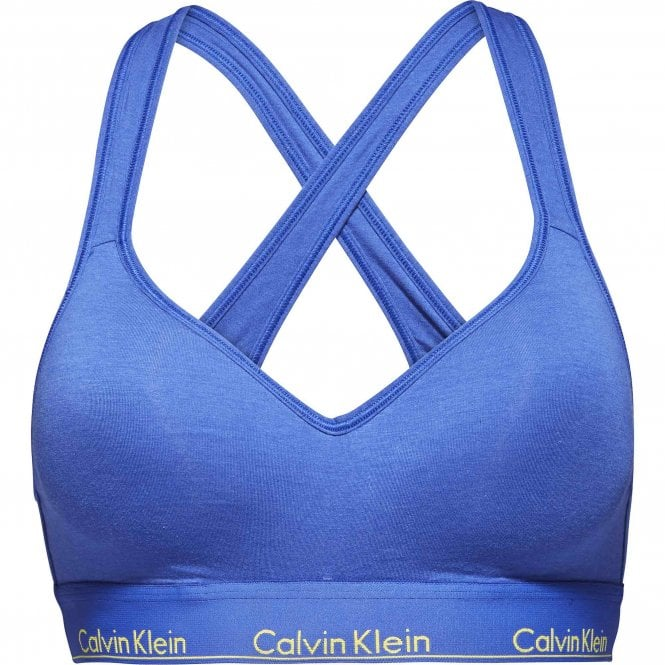 Calvin Klein Women Modern Cotton Bralette Lift, Pure Cerulean Blue