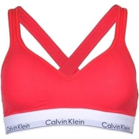 Modern Cotton Bralette Lift, Red