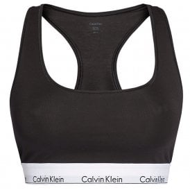 Modern Cotton Plus Bralette, Black