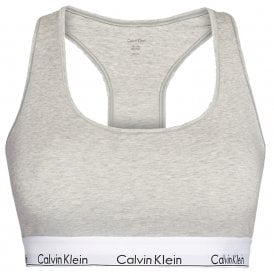 Modern Cotton Plus Bralette, Grey