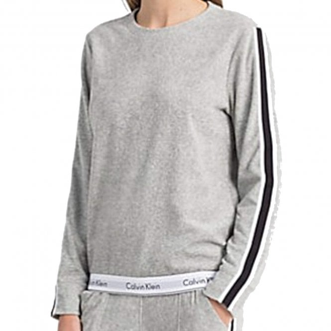 Calvin Klein Women Modern Cotton 'Retro' Sweatshirt, Grey