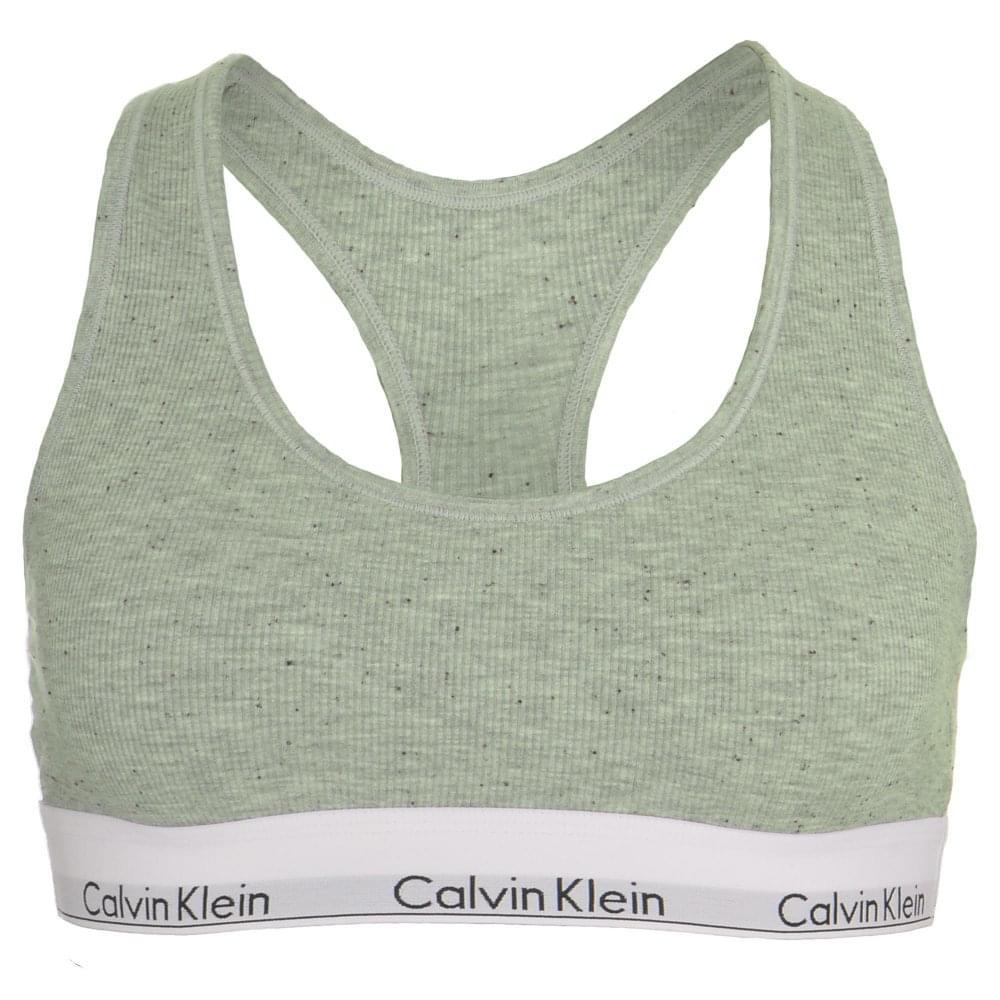 f801c419425 Calvin Klein Women Modern Cotton Ribbed Modal Bralette Graphic Rib ...