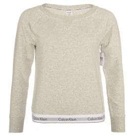 Modern Cotton Sweatshirt, Snow Heather - Neon Neps