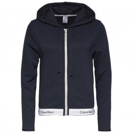 Modern Cotton Zip Hoodie, Shoreline Blue