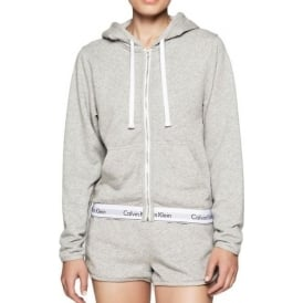 Modern Cotton Zip Hoody, Grey