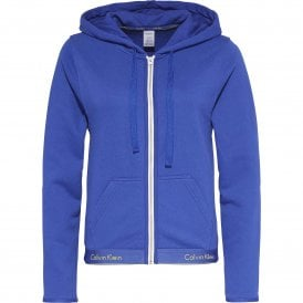 Modern Cotton Zip Hoody, Pure Cerulean Blue