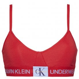 Monogram Unlined Triangle Bra, Manic Red