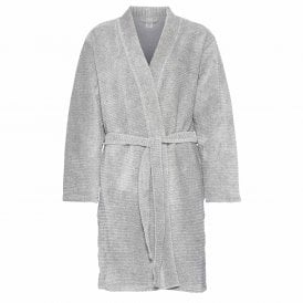 Quilted Robe, Grey