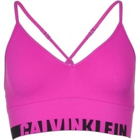 Seamless Logo Bralette, Striking Pink