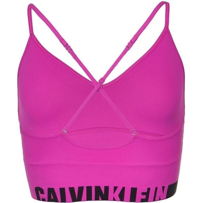 7ca51855b9 Calvin Klein Women Seamless Logo Bralette Striking Pink
