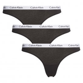 Carousel 3-Pack Thong, Black