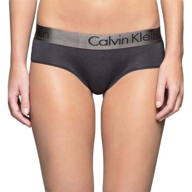 Calvin Klein Womens Dual Tone Hipster Brief Black Shadow Grey a6fce2d76