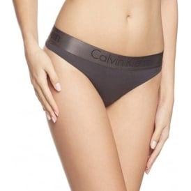 Dual Tone Thong, Black/Shadow Grey