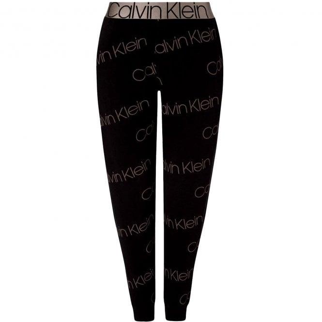Calvin Klein Icon Lounge Jogger, Diagonal Icon Logo Print/Black