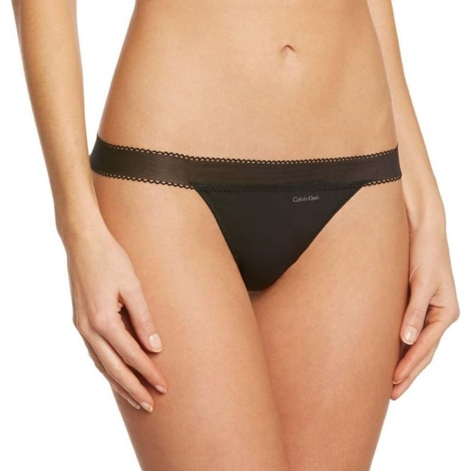 Calvin Klein Women Icon Thong, Black