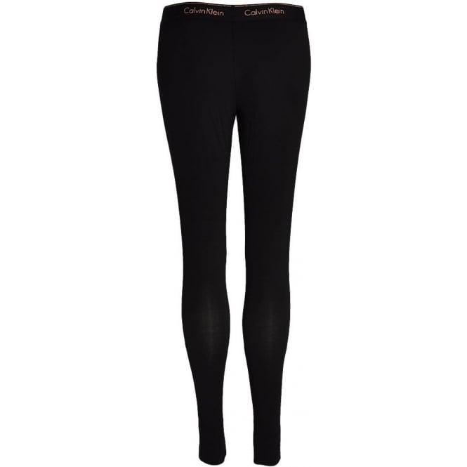 4f62d0354f136 Calvin Klein Womens Modern Cotton Legging Black with Stencil Logo ...
