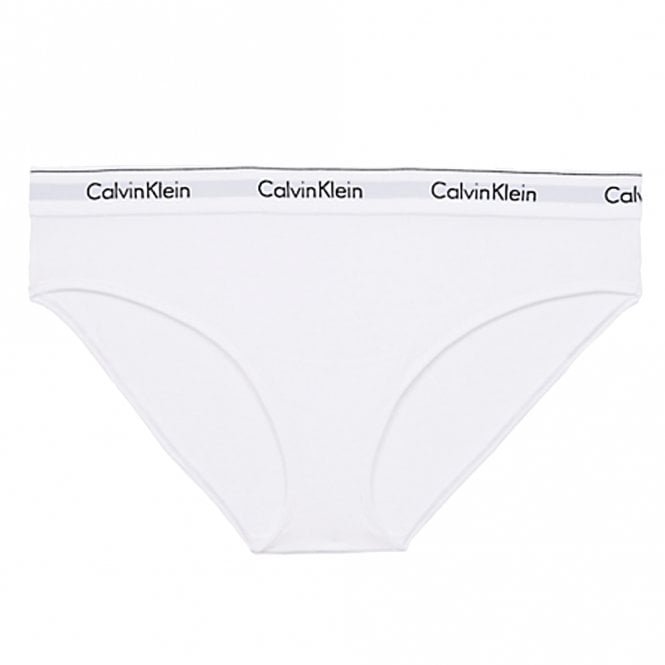 Calvin Klein Women Modern Cotton Plus Bikini Brief, White