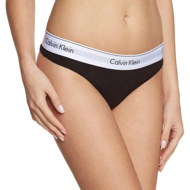 Calvin Klein Women Modern Cotton Thong, Black