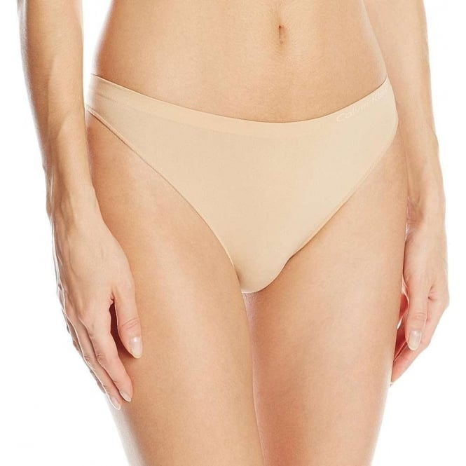 Calvin Klein Women Pure Seamless Thong, Bare