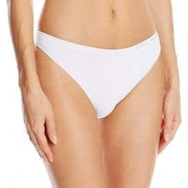 Pure Seamless Thong, White