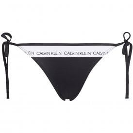 Swimwear CK LOGO Side Tie Bottom, Black