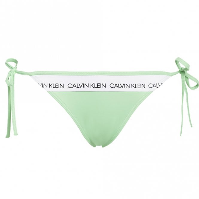 Calvin Klein Women Swimwear CK LOGO Side Tie Bottom, Spring Bouquet