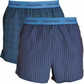 Woven Slim Fit Boxer 2-Pack, Turin Stripe Blue Star / Cambridge Plaid