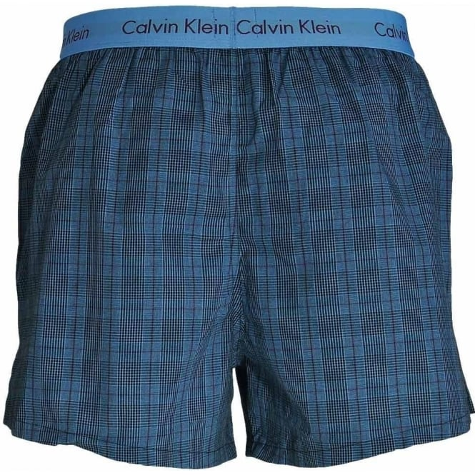 d165318b0745 Woven Slim Fit Boxer 2-Pack, Turin Stripe Blue Star / Cambridge Plaid