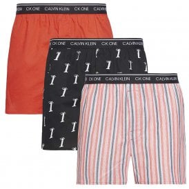 CK One Slim Fit Woven Boxer 3-Pack, Numero 1/Adrenaline Rush/Variety St