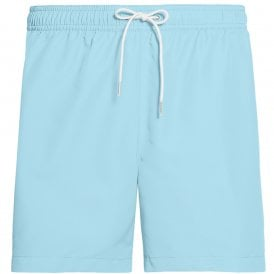 Core Logo Tape Medium Drawstring Swim Shorts, Bluefish