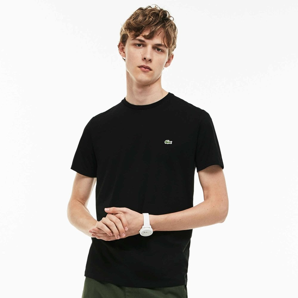 Crew Neck Pima Cotton Jersey T-shirt Black