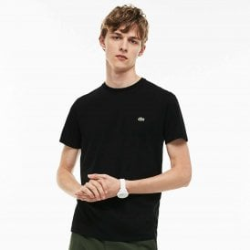Crew Neck Pima Cotton Jersey T-shirt, Black