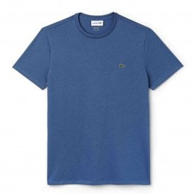 Crew Neck Pima Cotton Jersey T-shirt, Blue