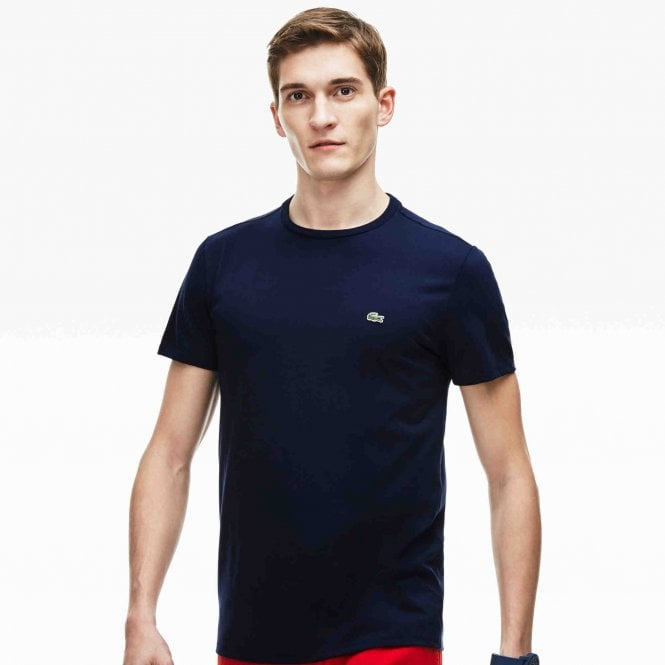 Lacoste Crew Neck Pima Cotton Jersey T-shirt, Navy