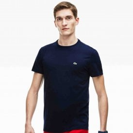 Crew Neck Pima Cotton Jersey T-shirt, Navy