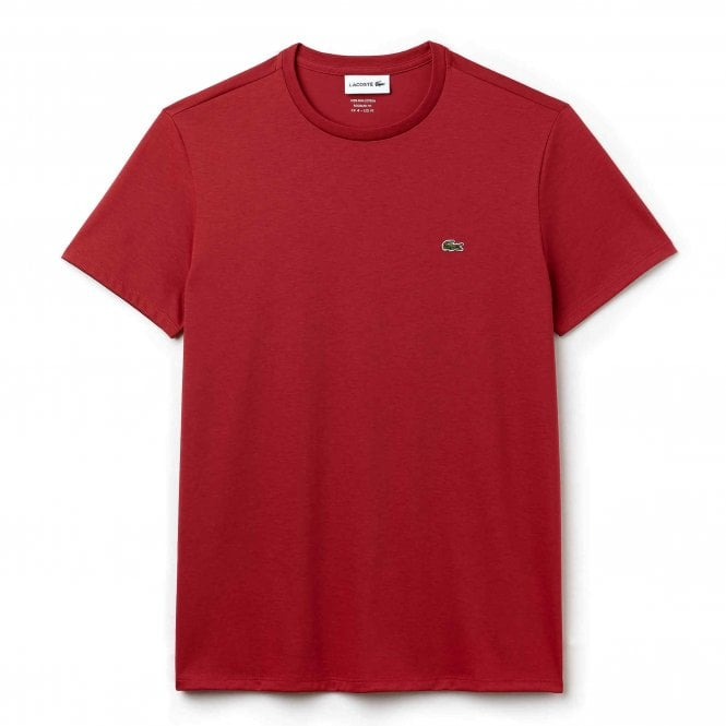 Lacoste Crew Neck Pima Cotton Jersey T-shirt, Red
