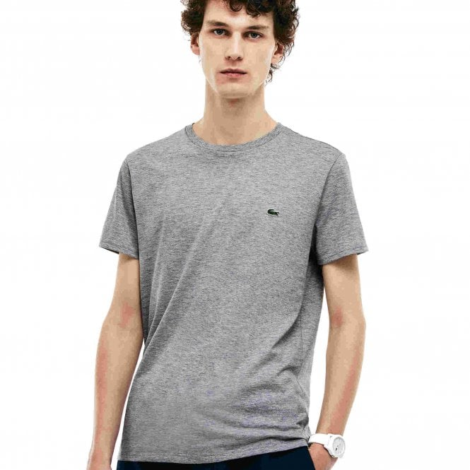 Lacoste Crew Neck Pima Cotton Jersey T-shirt, Silver Chine