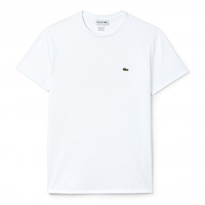 Lacoste Crew Neck Pima Cotton Jersey T-shirt, White