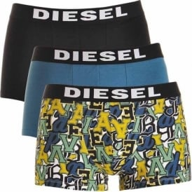 3-Pack Boxer Trunk UMBX-Shawn, Black / Blue / Graffiti Print