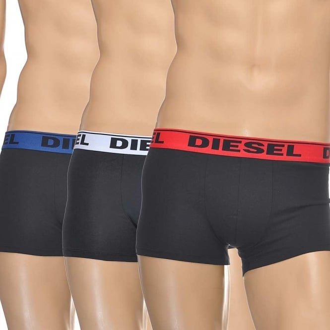 DIESEL 3-Pack Boxer Trunk UMBX-Shawn, Black with Red/White/Blue