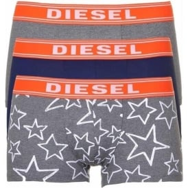 3-Pack Boxer Trunk UMBX-Shawn, Grey/Navy/Stars