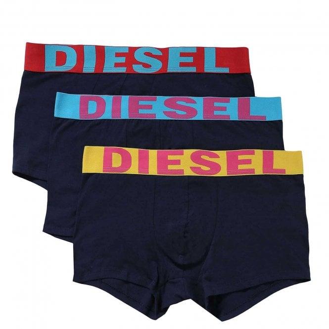 DIESEL 3-Pack Boxer Trunk UMBX-Shawn, Navy
