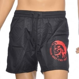 BMBX Wave E Mohawk Swim Shorts, Black