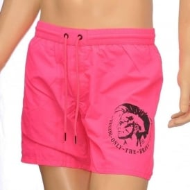 BMBX Wave E Mohawk Swim Shorts, Pink