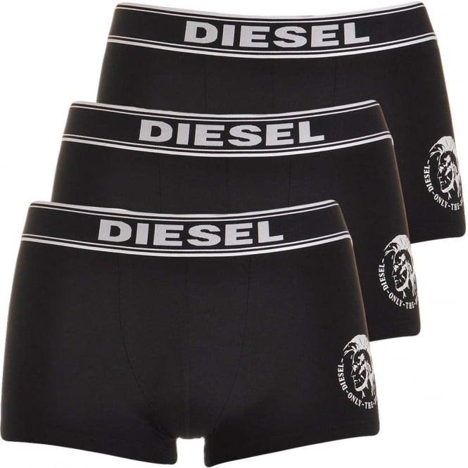 DIESEL Essential Cotton Stretch 3-Pack Boxer Trunk UBMX SHAUN, Black