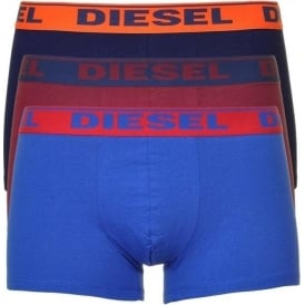 Fresh & Bright 3-Pack Boxer Trunk UMBX-Shawn, Navy/Burgundy/Blue